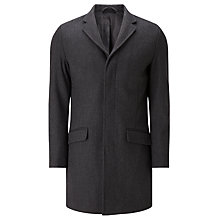 Buy Kin by John Lewis Herringbone Mid-Length Overcoat, Charcoal Online at johnlewis.com