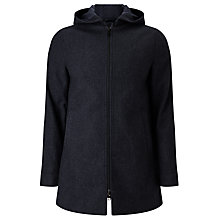 Buy Kin by John Lewis Hooded Wool Blend Coat, Navy Online at johnlewis.com