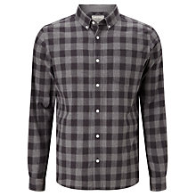Buy John Lewis Shadow Gingham Check Shirt, Grey Online at johnlewis.com