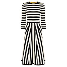 Buy Karen Millen Stripe Dress, Black/White Online at johnlewis.com