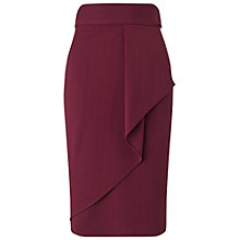 Buy Miss Selfridge Ruffle Midi Skirt, Burgundy Online at johnlewis.com