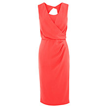 Buy Coast Claudette Crepe Dress, Coral Online at johnlewis.com
