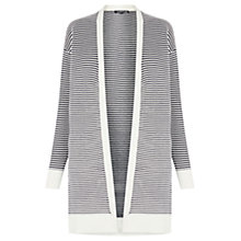 Buy Warehouse Striped Ottoman Cardigan, Black/Striped Online at johnlewis.com