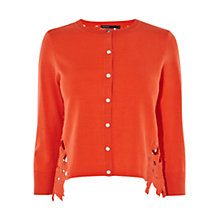 Buy Karen Millen Floral Lace Cardigan, Orange Online at johnlewis.com