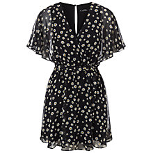 Buy Miss Selfridge Petite Angel Sleeve Dress, Black Online at johnlewis.com