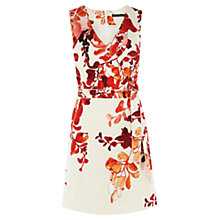 Buy Karen Millen Wisteria Print Dress, Pink/Multi Online at johnlewis.com