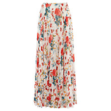 Buy Karen Millen Garden Maxi Skirt, White/Multi Online at johnlewis.com