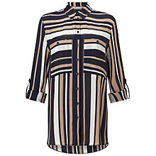 Buy Miss Selfridge Stripe Shirt, Multi Online at johnlewis.com