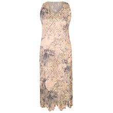 Buy Chesca Lace Crush Pleat Dress, Pale Apricot Online at johnlewis.com