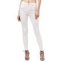 Buy Miss Selfridge Sofia Ultra Soft Jeans, White Online at johnlewis.com