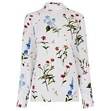 Buy Warehouse Pretty Floral Top, Multi Online at johnlewis.com
