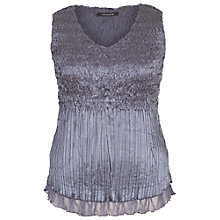 Buy Chesca Lace Crush Pleat Cami, Steel Online at johnlewis.com