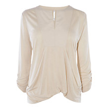 Buy Karen Millen Draped Jersey Top, Stone Online at johnlewis.com