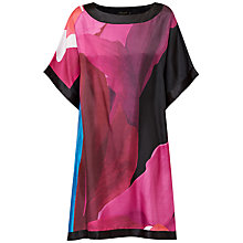 Buy Ted Baker Stencilled Stem Dress, Deep Pink Online at johnlewis.com