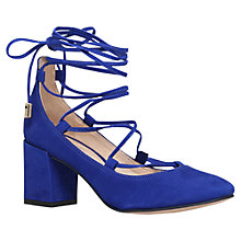 Buy Carvela Aid Lace Up Block Heeled Court Shoes Online at johnlewis.com