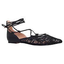 Buy KG by Kurt Geiger Larissa Pointed Toe Tie Pumps Online at johnlewis.com