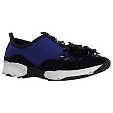 Buy Carvela Lullaby Embellished Trainers, Blue Online at johnlewis.com