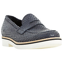 Buy Dune Black Gienna Loafers, Navy Reptile Online at johnlewis.com