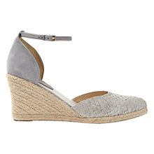 Buy Mint Velvet Miriam Two Part Wedge Heeled Court Shoes, Grey Online at johnlewis.com
