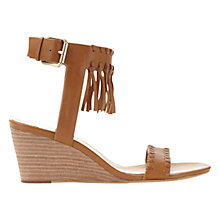 Buy Mint Velvet Adele Wedge Heeled Sandals, Tan Online at johnlewis.com