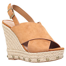 Buy KG by Kurt Geiger March Wedge Heeled Sandals, Tan Suede Online at johnlewis.com