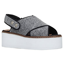 Buy KG by Kurt Geiger Neve Flatform Sandals, Grey Online at johnlewis.com