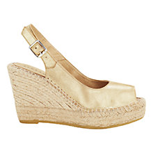 Buy Jigsaw Bella Woven Wedge Sling Back Sandals Online at johnlewis.com