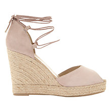 Buy Mint Velvet Hayley Lace Up Wedge Heeled Sandals, Nude Online at johnlewis.com