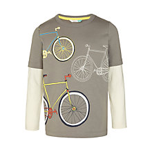 Buy John Lewis Boys' Cycle Print T-Shirt, Grey Online at johnlewis.com