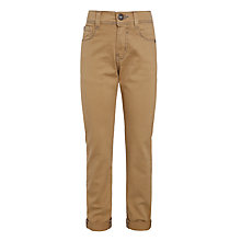 Buy John Lewis Boys' Five Pocket Authentic Trousers, Beige Online at johnlewis.com