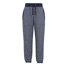 Buy John Lewis Boys' Textured Melange Joggers, Navy Marl Online at johnlewis.com