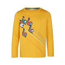 Buy John Lewis Boys' Graphic Snail Print T-Shirt, Yellow Online at johnlewis.com