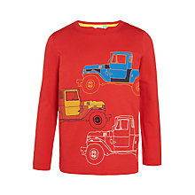 Buy John Lewis Boys' Long Sleeve Truck Print T-Shirt, Red Online at johnlewis.com