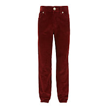 Buy John Lewis Boys' Five Pocket Cord Trousers, Rust Online at johnlewis.com