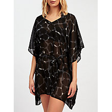 Buy John Lewis Animal Print V-Neck Kaftan, Black Online at johnlewis.com