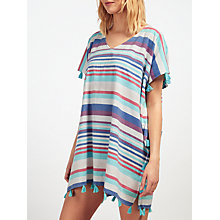 Buy John Lewis Sundrenched Stripe Kaftan, White/Multi Online at johnlewis.com