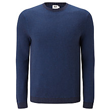 Buy Kin by John Lewis Two Colour Tuck Stitch Jumper, Blue Online at johnlewis.com