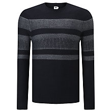 Buy Kin by John Lewis Reverse Fair Isle Stripe Jumper, Charcoal Online at johnlewis.com