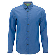 Buy BOSS Green Bantal Shirt, Medium Blue Online at johnlewis.com
