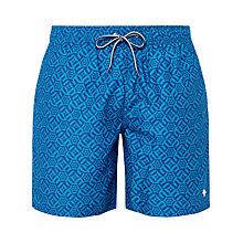 Buy Ted Baker Absho Geo Print Swim Shorts, Blue Online at johnlewis.com