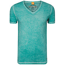 Buy BOSS Orange Tolouse V-Neck T-Shirt, Bright Green Online at johnlewis.com