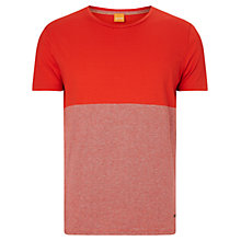 Buy BOSS Orange Tuomo T-Shirt, Medium Red Online at johnlewis.com
