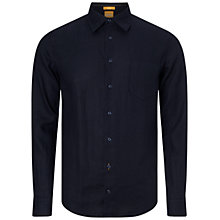 Buy BOSS Orange Enamee Slim Fit Shirt, Dark Blue Online at johnlewis.com
