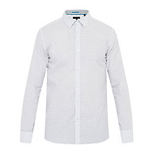 Buy Ted Baker Gohome Geo Print Shirt, White Online at johnlewis.com