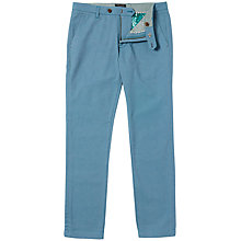 Buy Ted Baker Tegatin Mini Design Cotton Trousers, Teal Online at johnlewis.com