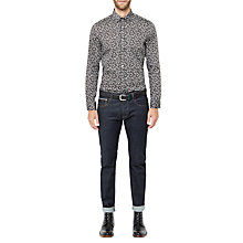 Buy Ted Baker Solariz Selvedge Rinse Jeans, Dark Blue Online at johnlewis.com