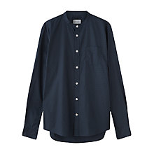 Buy Jigsaw Micro Dot Grandad Slim Shirt, Navy Online at johnlewis.com