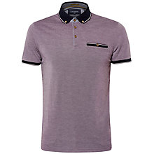 Buy Ted Baker Fabalas Oxford Collar Polo Shirt, Deep Purple Online at johnlewis.com