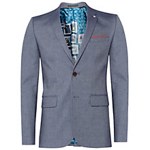 Buy Ted Baker Bigband Mini Design Classic Fit Suit Jacket, Blue Online at johnlewis.com