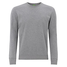 Buy BOSS Green Salbo Jersey Top, Pastel Grey Online at johnlewis.com